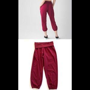 COPY - Lululemon Om Pants in Cranberry